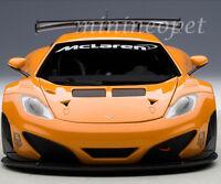 AUTOart 81340 MCLAREN 12C GT3 PRESENTATION CAR 1/18 DIECAST METALLIC ORANGE