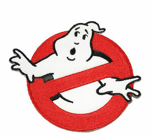 4IN GHOSTBUSTERS GHOST Movie Logo BUSTERS IRON-ON Embroidered Applique Patch
