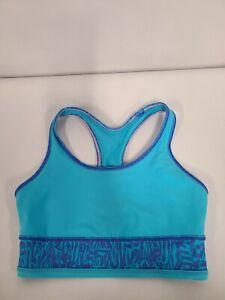 Lululemon Ivivva Girls Sports Bra Size 8 Blue Racerback Athletic Activewear Yoga