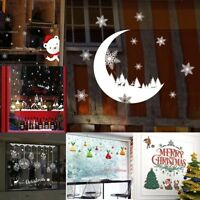Merry Christmas Wall Stickers Background Wall  Removable PVC Door Window Decor