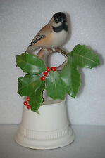 Black Capped Chickadee Bird on Holly Branch Figurine Boehm #438B USA