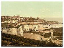 Large A3 Size Victorian View of Broadstairs Cliff Repro Old Photo Poster Print