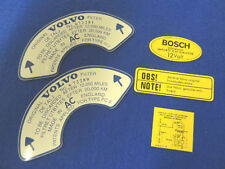VOLVO CLASSIC B18 1964 TO 1966 AIR FILTER KIT DECAL AMAZON 122S 1800S