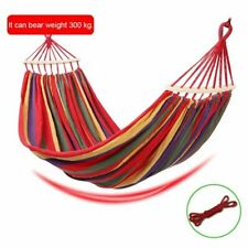 Hammock Outdoor Furniture Canvas Fabric Double Spreader Bar Sport Camping Swing