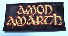 amon amarth  yellow and red logo EMBROIDERED  PATCH