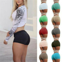 Women's Sports Yoga Shorts Push Up Booty Fitness Casual Sexy Gym Hot Pants AU