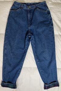 Bean Women/'s Denim Blue Jean Size 20 Plus Size Classic Mom Pants Bottoms Vtg Retro Vintage L.L