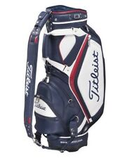 Titleist Staff Cart Caddy Golf Bag, CB823, in blue/white/red, NEW