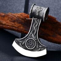 Thors Hammer Wikinger Anhänger Edelstahl Mjölnir Viking Herren ohne Kette