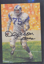 David Deacon Jones Signed 1991 Goal Line Art Card Autograph Auto PSA/DNA AC80390