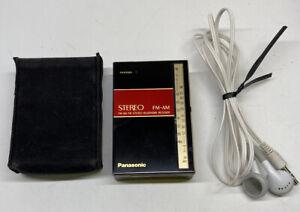 Vintage Panasonic RF-8 FM-AM-FM Ultra Compact Pocket Stereo Radio Headphones