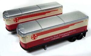 """N Scale - 40/50's - Aero Van Trailer """"Santa Fe """" (2 PACK) - CMW-51179"""