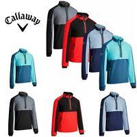 Callaway 2019 Mens 1/4 Zip Block Base layer Water Resistant Golf Wind jacket