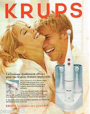 PUBLICITE ADVERTISING 065  1996  KRUPS  la brosse à dents éléctrique