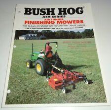 Bush Hog Ath600 Ath720 Air Tunnel Finishing Mower Cutter Sales Brochure
