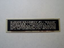Harmon Killebrew Twins Engraved Nameplate For A Signed Baseball Bat Case 1.5 X 6