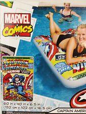 SwimWays Marvel Comic Book Float Captain America 60x40  Pool Lake Toy Raft New
