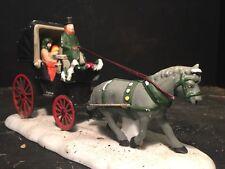 Victorian Horse Carriage & Driver/riders Snow Dept56 Diorama Barzso Winter 1/32