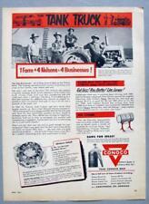Original 19534 Conoco Oil Ad Photo Endorsed by Nelson Family of Cedar City Utah