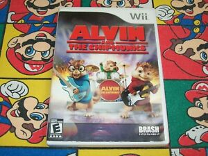 Alvin and the Chipmunks (Nintendo Wii) w/ Case - Music Game - READ