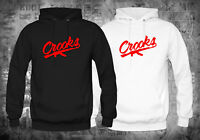 Crooks and Castles Band Red Logo Black White Hoodies Size XS-XL