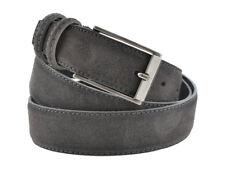Cintura camoscio uomo donna grigio scuro classica scamosciata made in Italy