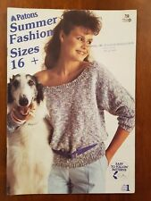PATONS KNITTING - 758 SUMMER FASHION SIZE 16-24 LADIES JUMPER TOPS COTTON