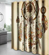 Bathing Shower Curtain Bathroom Bathtub Cover Painting Art Home Decor with Hooks