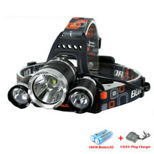 TRONIZ RJ-3000 12000Lm 3X XML T6 LED Head Lamp Head Light 18650