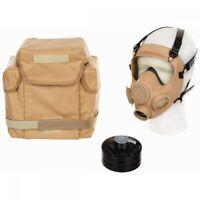 Pol. Schutzmaske MP5 Filter khaki Gasmaske ABC Schutz Militär Atemschutz Tasche