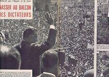 Coupure de presse Clipping 1958 Gamal Abdel Nasser  (6 pages)