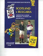 SCOTLAND v BULGARIA 27th March 1991 European Championship Qualifier