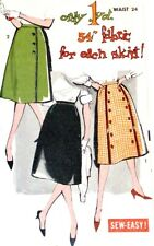 Advance 9464 Pattern Skirt Front Panel Wrapped Look Work Casual Waist 24 New
