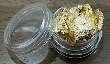 x2 Gold Leaf Foil for Nail Art Craft Scrapbook Acrylic Gel
