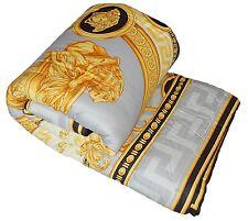 """Versace La Coupe De Dieux Baroque Medusa King Size Comforter Grey/Black - 110.3"""""""