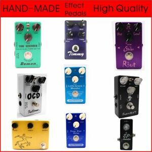 Guitar Effect Pedal Booster 9V Overdriven Sound LED Indicator Electric Equipment