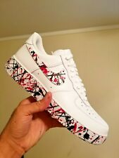 Streaky Red Splat @CoolOutSessions Custom Nike Air Force 1