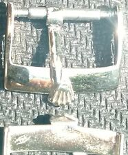 Original Vintage Rolex Buckle Fibbia 14mm inner Solid White Gold 18 ct from 1950
