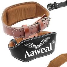 "Weight Lifting Belt 6"" Leather Gym Back Support Strap Gym Training Exercise belt"