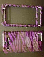 Motorola DROID X Design Hard Case Cover Purple Black Zebra Stripes