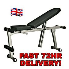 Adjustable Incline Flat Weight Bench Home Gym Bench Press Utility Bench UK