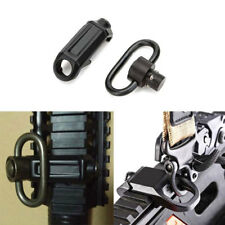 Black Quick Release QD Mount Sling Swivel for Picatinny Rail + Seperating Buckle