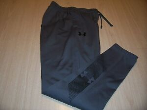 UNDER ARMOUR GRAY FITTED ATHLETIC PANTS BOYS LARGE 14-16 EXCELLENT CONDITION