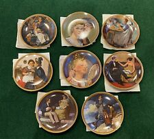 Set of 8 Norman Rockwell Knowles Rediscovered Women Collection Plates With Certs