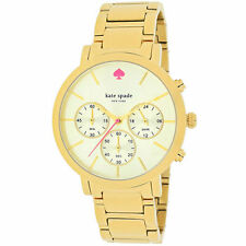 Gold Plated Band Analogue Round Wristwatches