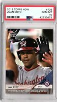 2018 TOPPS NOW #726 JUAN SOTO PSA GEM MINT 10 ROOKIE