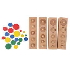 Kids Montessori 4 Blocks Socket Cylinder Set for Mathematics Shape Learning