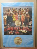 Sgt. Peppers lonely hearts band Rock n' Roll The Beatles 1987 poster Inv#G2807