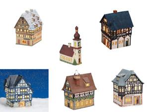 Lichthaus G.Wurm aus Porzellan Windlichthaus versch. Modelle Windlichter NEU