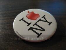 "Apple Computer ""I Apple NY (New York)"" Collectible Pin Button Macworld 2001"